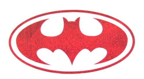 BATMAN Logo Red Reflex Cut Vinyl Sticker Motorcycle Bumper Skateboard Decal 93J