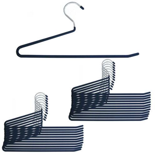 24 Stück Hosenbügel Hosen Bügel Antirutsch Kleiderbügel dunkelblau 35cm Bügel