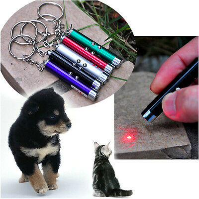 2 In1 Red Pointer Pen With White LED Light Childrens Cat Toy