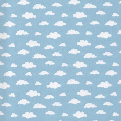 Stars /& Nubes Tela Algodón Patchwork Confección Niños Guardería Oeko-Tex
