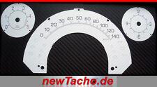 SMART 450 Diesel weiße kmh Tachoscheiben CARBON Optik Gauge Tacho Dial speedo