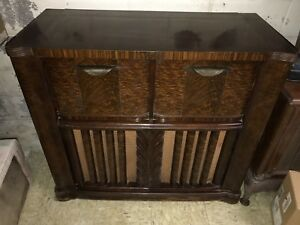 Details about Vintage Zenith 12H090 Tube Console Radio Phonograph Wave  Magnet Floor Model
