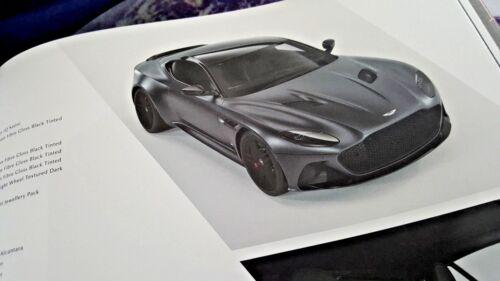 Aston Martin DBS SUPERLEGGERA COUPE 2018 la mia RILEGATO vendite OPUSCOLO 54 PG
