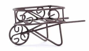 Miniature Fairy Garden Rustic Wheelbarrow - Buy Three Save $5