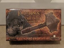 Sideshow Weta CAVE TROLL HAMMER Lord of the Rings LotR Hobbit Orig Shipper Rare