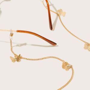 Butterfly Eyeglass Chain Non-slip Reading Glasses Strap Women's Glasses  Chains | eBay
