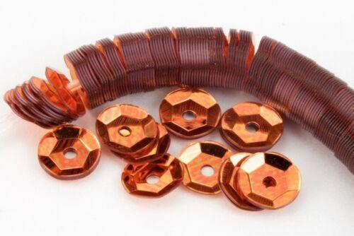 5mm Metallic Orange Cupped Sequin #6547 1000 Pcs