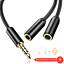 AGPTEK-Audio-Cable-3-5mm-Y-Splitter-Cable-Stereo-Plug-Male-to-2-RCA-Female-Jack thumbnail 1