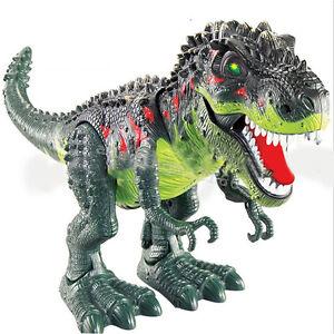 Walking Dinosaur Spinosaurus Kids Light Up Toy Figure Sounds Real Movement