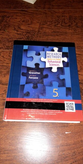 Research Methods For The Behavioral Sciences By Frederick