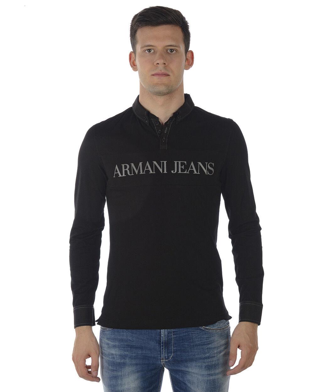 T shirt Maglietta Armani Jeans Aj Aj Aj Sweatshirt SLIM FIT Uomo Nero A6M73ZD E5E 5e1bfc