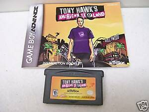 GAME-BOY-ADVANCE-TONY-HAWKS-AMERICAN-SK8LAND-W-BOOKLET