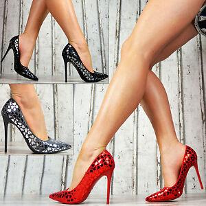 b04337086299dd SeXy Pumps Damen Lack Spitzen Schuhe Party High Heels Stilettos ...