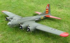 """B-17 Flying Fortress  138""""  Giant Scale RC AIrplane Printed Plans"""