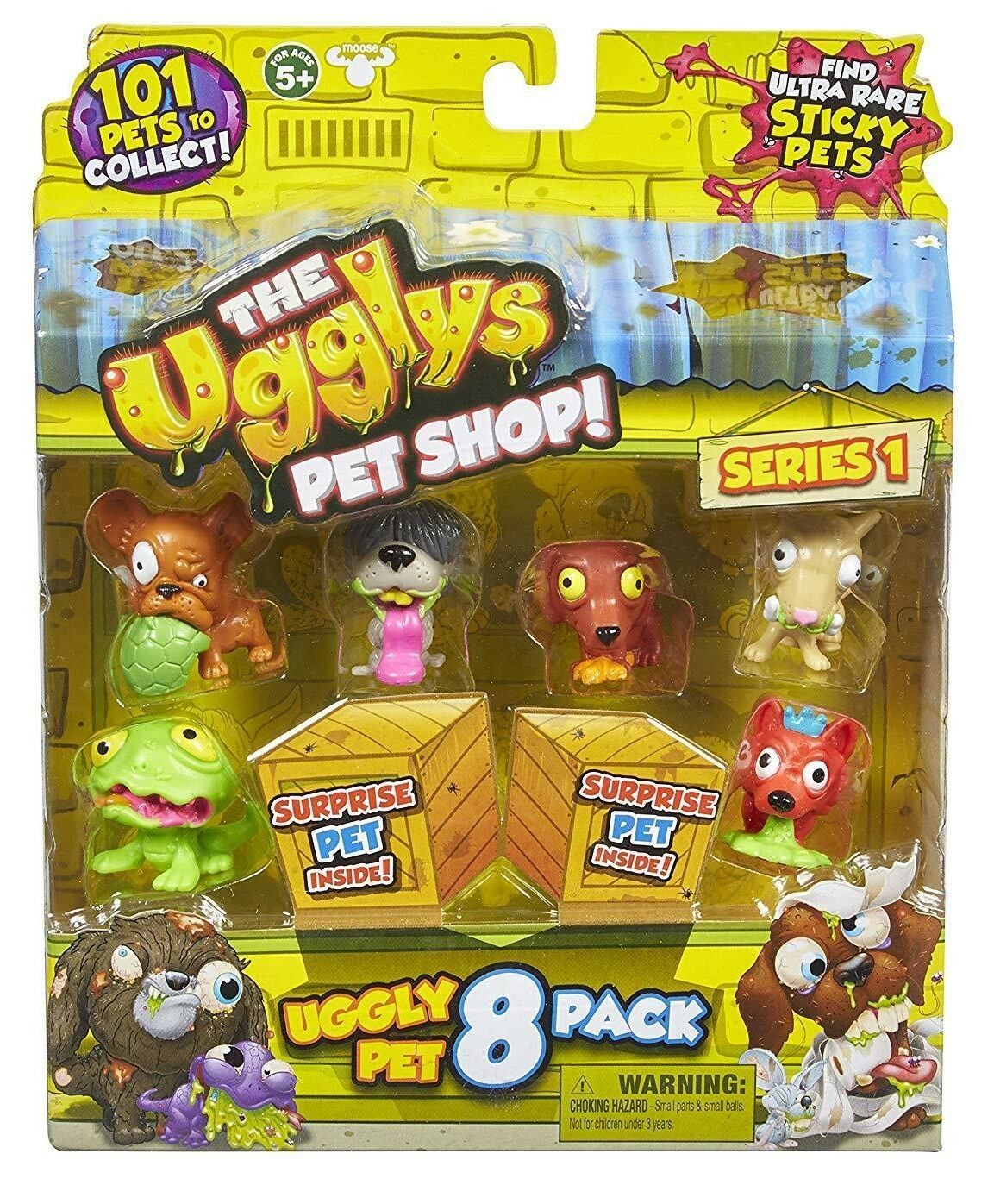 The Ugglys Pets Shop Series 1 Collectible Figures LOT Of 50 Boosters All Sealed