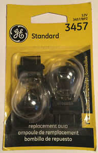 Pack-of-2-GE-3457-BP2-Standard-Automotive-Lamp-Bulbs-Clear-12v-Free-Shipping