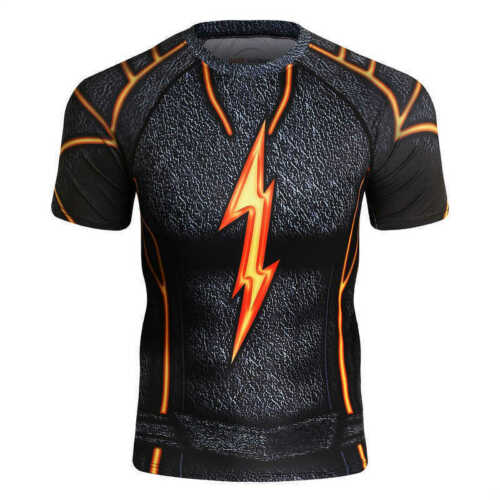 Mens Compression T-shirt 3D printed Gym Workout Costume Cosplay Tops Tee Dri fit