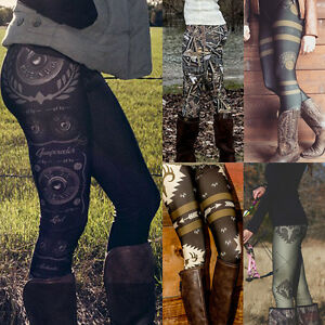 Warm-Women-Casual-Skinny-Slim-Leggings-Stretchy-Pants-High-Waist-Pencil-Jeggings