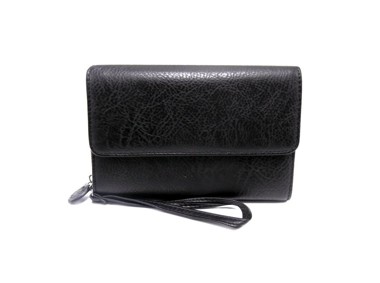 Mundi Women BIG FAT WALLET Faux Leather Ladies RFID Blocking Black B395X NO TAGS