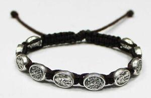St-Michael-the-Archangel-the-and-Guardian-Angel-bracelet-Black-Cord-St-Michael