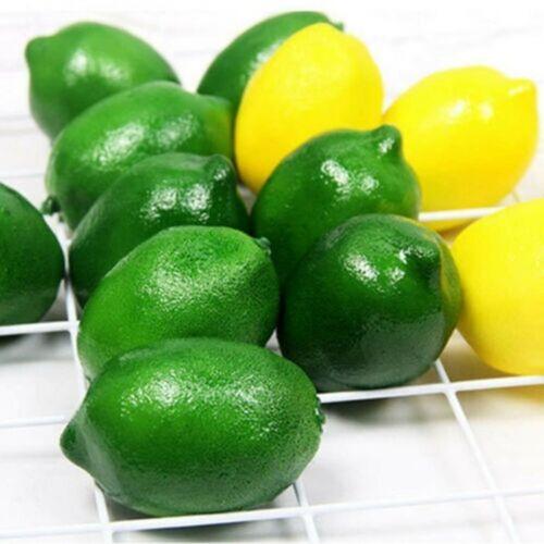 Limes Lemon Lifelike Artificial Plastic Fake Fruit Imitation Home Party Decors