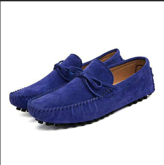 Stylish Slip On Loafers Suede Leather Moccasin-gommino Occident Drving shoes Hot
