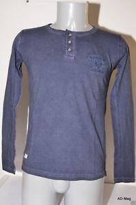 Tee-Shirt-manches-longues-Homme-KAPORAL-JUGNOE14M2-Bleu-Taille-S-XXL-NEUF