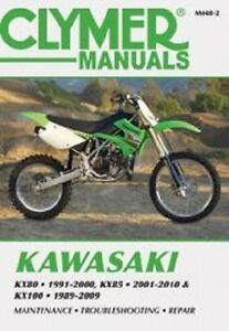 details about clymer repair service shop manual vintage kawasaki kx80 91 00, kx85 100 01 16image is loading clymer repair service shop manual vintage kawasaki kx80