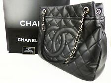 d9bd3110960d EX Auth CHANEL GST Grand Shopping Tote Bag Caviar XL Large Shoulder Quilted