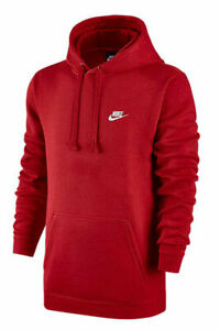 Nike-lightweigh-fleece-classic-simple-casual-pullove-up-hoodie-men-039-s-sweater