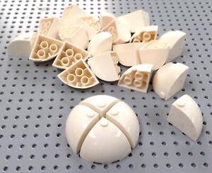 Lego-White-3x3x2-Brick-Corner-Dome-88293-x4-BRAND-NEW-City-Star-Wars