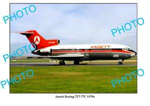 OLD-6-x-4-PHOTO-ANSETT-AIRLINES-BOEING-727-77c-AIRCRAFT