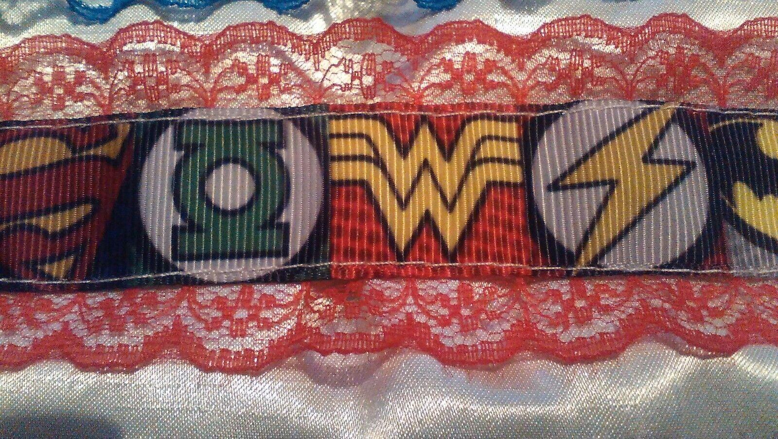 marvel wedding garter red lace burlesque super hero