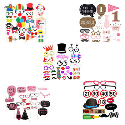 21pcs Trimming Shop Happy Birthday Photo Booth Party Props for Dress Up Accessories Birthday Special