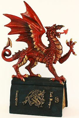 Red Dragon Bookwyrms Dragon by Andrew Bill - Resin Figurine -Dragonsite