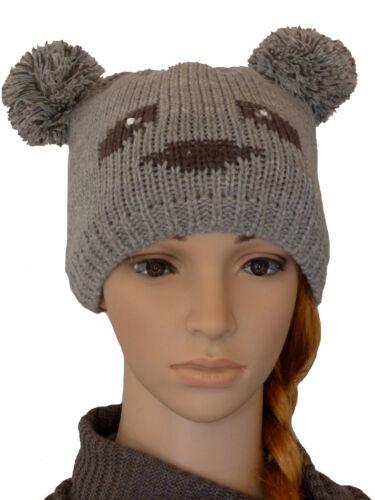 BERRETTO A Maglia Berretto Bambini Cappello Berretto da Donna Inverno Berretto Beanie Berretto ORSETTI caldo