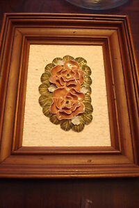Ceramic-flowers-in-frame-on-Plyex-Grumbacher-Canvas-Board-wooden-frame-passill