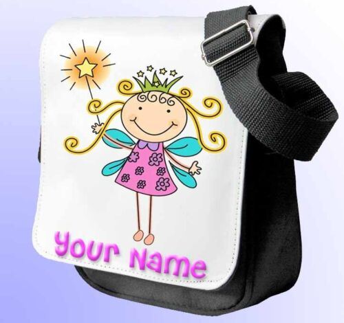 PRINCESS FAIRY PERSONALISED SHOULDER/ HAND BAG *Choice of 2 colours* NAMED GIFT