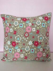 Handmade-Decorative-Cushion-Cover-Floral-Heart-Clarke-amp-Clarke-Girls-Room