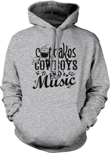 Cupcakes Cowboys Music Country Redneck Pride Cowgirl Gitty Up Hoodie Pullover
