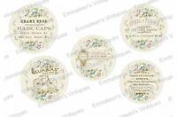 Vintage Image Shabby Victorian Flower Advertising Labels Waterslide Decal Lab413