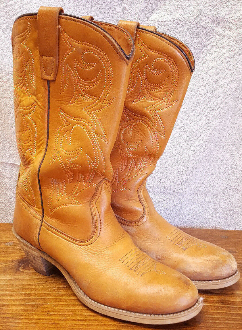 Bottes Cowboy-Marron-Cuir-Hommes Chaussure De Taille 9N-9914 - Ranch West Country Horse Farm