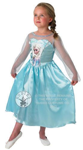 Elsa Disney Frozen Snow Queen Girls Fancy Dress Fairytale Kids Child Costume 3-8