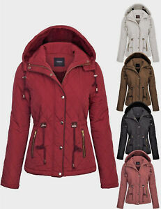 90fae3b29e Image is loading KOGMO-Womens-Fur-Lined-Lightweight-Zip-Up-Quilted-