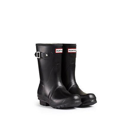 HUNTER ORIGINAL SHORT BLACK WELLINGTON BOOTS Welly Short Black Wellies *NIB*