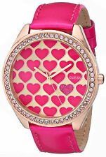 Guess U0535L1 Heart Rose Gold Case, Pink Patent Leather Strap Watch
