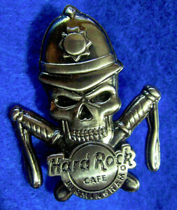 Birmingham-British-Poliziotto-Bobby-3D-Argento-Teschio-Serie-Hard-Rock-Cafe-a-Le