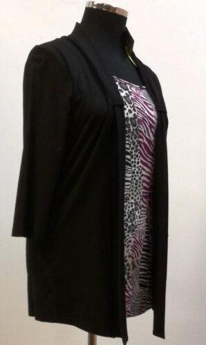 Shirt Rundhals 4 Gorgelt One Studio arm damen In Two Jackenoptik 3 wZYzqwfrx