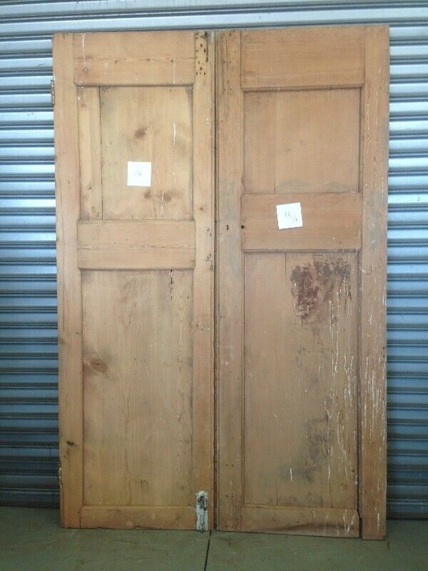 Oregon pine and teak doors old and antique.