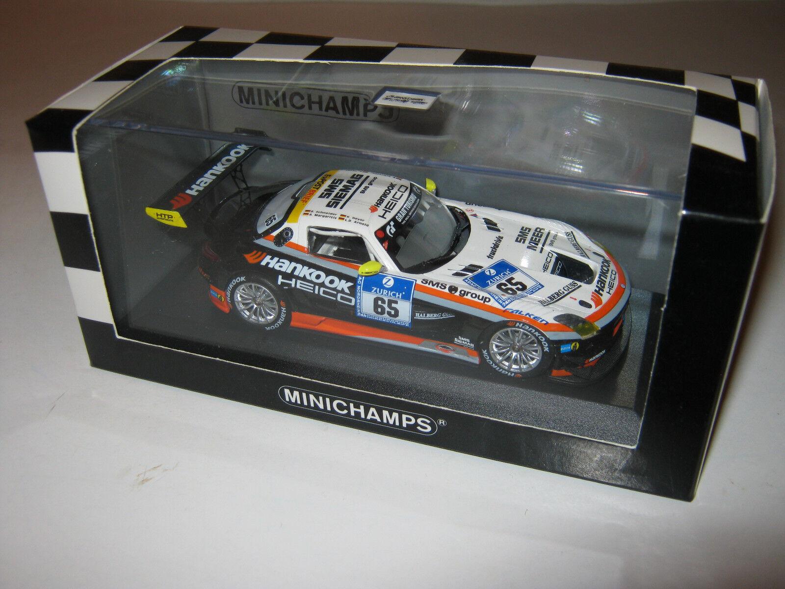 1 43 Mercedes SLS AMG gt3 Heyer Schneider Caoutchouc Nitrile butadiène. 2012 437123265 Minichamps NEW